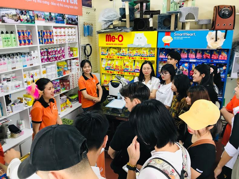 Đại học thú y Hà Nội có buổi đi thực tế tại Trung tâm dịch vụ thú cưng PKC