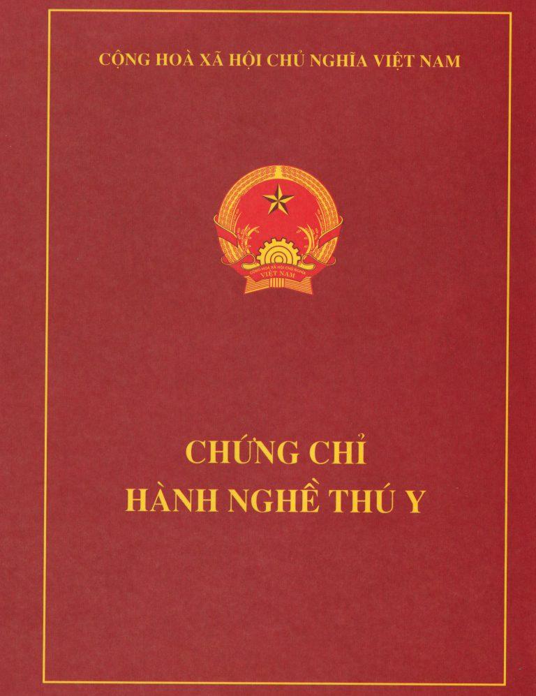 Các CHỨNG CHỈ HÀNH NGHỀ KINH DOANH THUỐC THÚ Y
