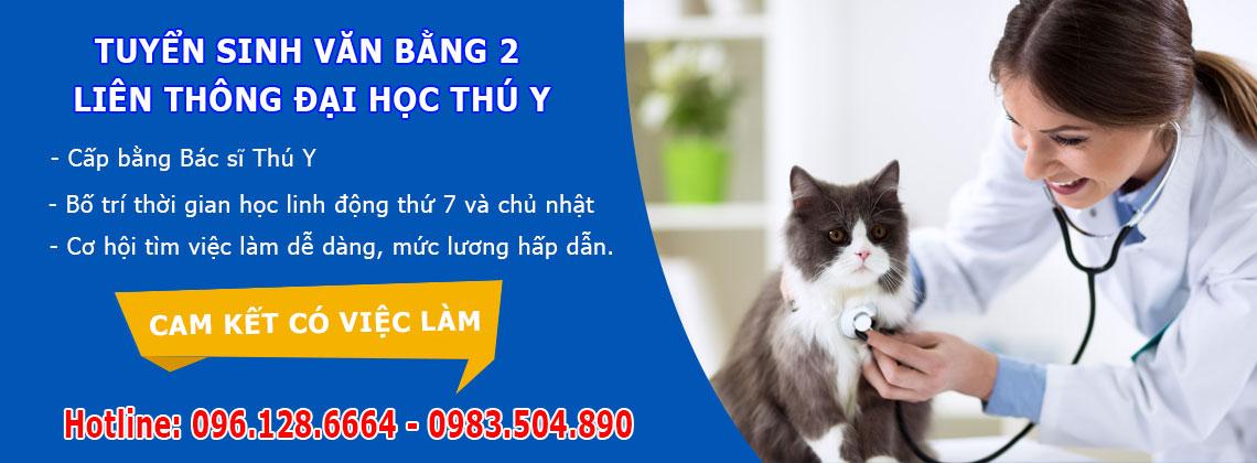 Tuyển sinh văn bằng 2 liên thông đại học thú y Hà Nội